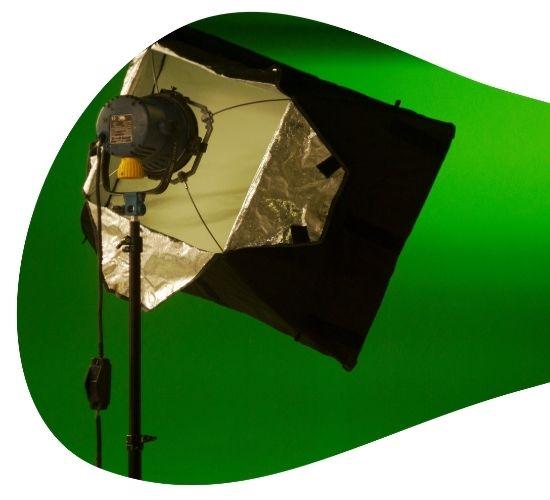 Evento chroma com painel verde
