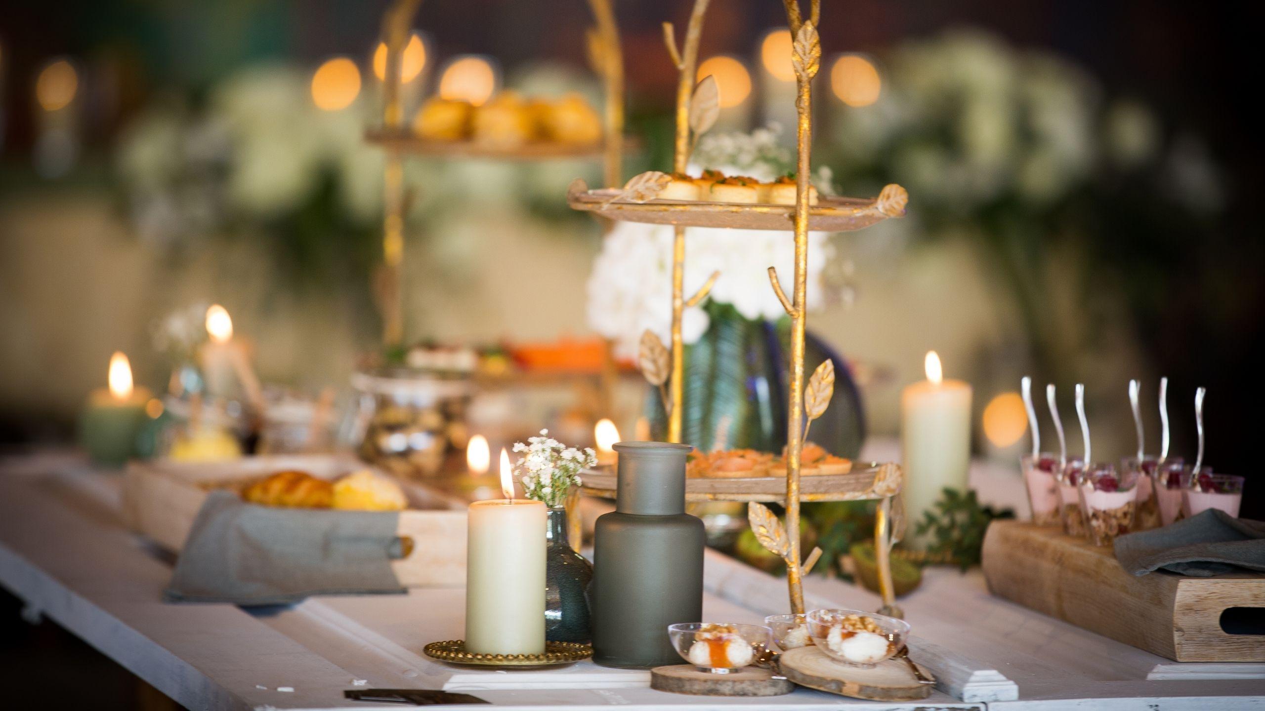 Detalhes de mesa de casamento