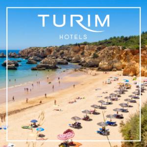 Praia do Alemão com logo Turim Hotels